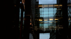 Architecture detail from office building in london Stock Footage