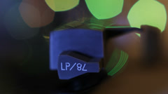 Detail of a vintage turntable in motion. Stock Footage