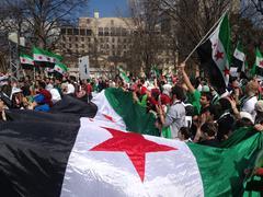 Syrian Pro-Revolutionary Protest - stock photo