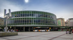 Ludwigshafen - Berliner Platz (timelapse) Stock Footage
