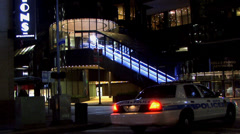 Building in Houston Texas at night in City / 2 Stock Footage