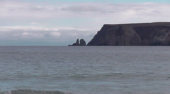 Whiten Head viewed from beach near Durness Scotland Stock Footage