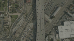 Aerial Bird's Eye View of Highway Stock Footage