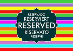 reserved - stock illustration
