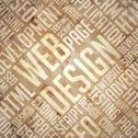 Stock Illustration of Web Design - Grunge Beige-Brown Wordcloud.