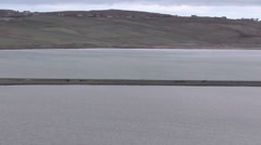 A838 causeway bridge across Kyle of Tongue Scotland Stock Footage