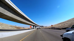 Stock Video Footage of POV driving Freeway elevated Highway San Francisco California USA