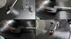 Record Player 4x Small Stock Footage