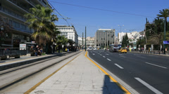 time lapse city traffic in Capital Cities Athens Greece - stock footage
