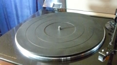 Record Player playing old 78 Victor Stock Footage