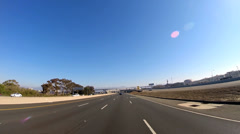 POV driving Freeway vehicle suburban coastal Route 80 San Francisco USA Stock Footage
