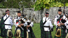 Stock Video Footage of Bermuda Islands Pipe Band