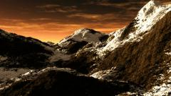 Mountains evening Stock Footage