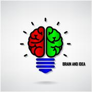 Stock Illustration of creative brain idea concept background