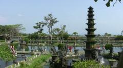 Tirta Gangga water palace, Bali Stock Footage