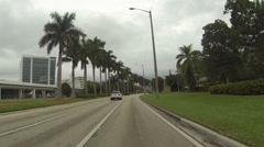 Drive POV Highway 1 Miami Florida 2 HD 0271 Stock Footage