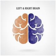 creative  brain sign - stock illustration