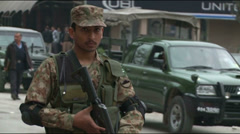 Anti Terrorist Forces at scene of Terror Attack in Islamabad, Pakistan - stock footage