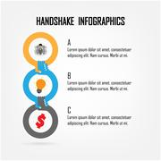 Handshake abstract sign vector design template. Stock Illustration