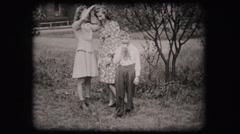 Boy child eating apple (vintage old home movie film) Stock Footage