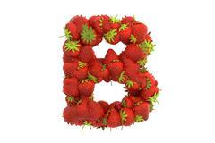 Stock Illustration of Strawberry letter B