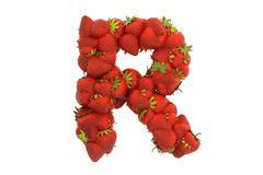 Stock Illustration of Strawberry letter R