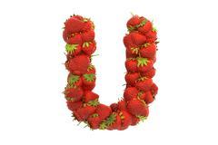 Stock Illustration of Strawberry letter U