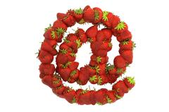 Strawberry symbol @ - stock illustration