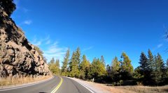 POV road driving Route 108 Sonora mountain Pass Sierra Nevada California USA Stock Footage