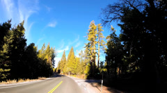 POV road trip vehicle driving Sonora Pass Route 108 California, USA Stock Footage