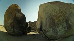 Split Rock outside of Joshua Tree HD Stock Footage