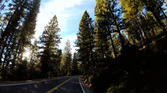 POV vehicle driving rural Mountain Pass Wilderness Route 108 California, USA Stock Footage