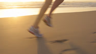 Stock Video Footage of Running woman feet close up exercise
