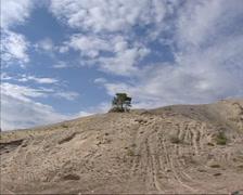 Pan sand dunes of Kvitsanden, Scandinavia Stock Footage