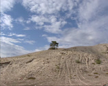 Stock Video Footage of pan sand dunes of Kvitsanden, Scandinavia