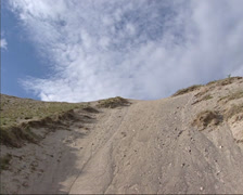 Wind and water erosion, sand dunes of Kvitsanden in Scandinavia, - stock footage