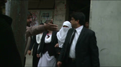 Scared Lawyers evacuate District Courts after a Suicide Bombing in Pakistan Stock Footage