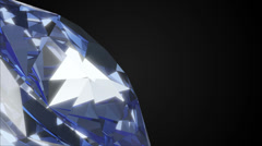 Blue Diamond Rotation on black background Stock Footage