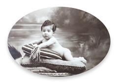 Antique portrait of a little boy Stock Photos