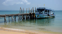 A small pier Stock Footage