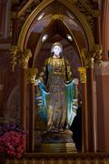 Virgin mary statue in roman catholic church at chanthaburi province, thailand Stock Photos