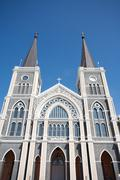 the cathedreal of the immaculate conception, chanthaburi, thailand - stock photo