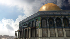 Animation of Dome of the Rock clouds timelapse in Jerusalem Stock Footage
