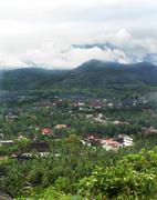 luang pra bang from above - stock photo