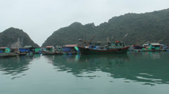 Fishing village on the sea Stock Footage