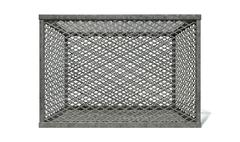 Empty steel cage Stock Illustration