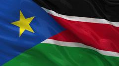 Flag of South Sudan - seamless loop Stock Footage