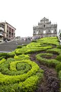 Cathedral of saint paul in macao (sao paulo church) Stock Photos
