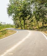 Countryside curve road Stock Photos