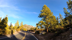 POV road trip driving winter Sonora Pass Wilderness Route 108 California, USA Stock Footage